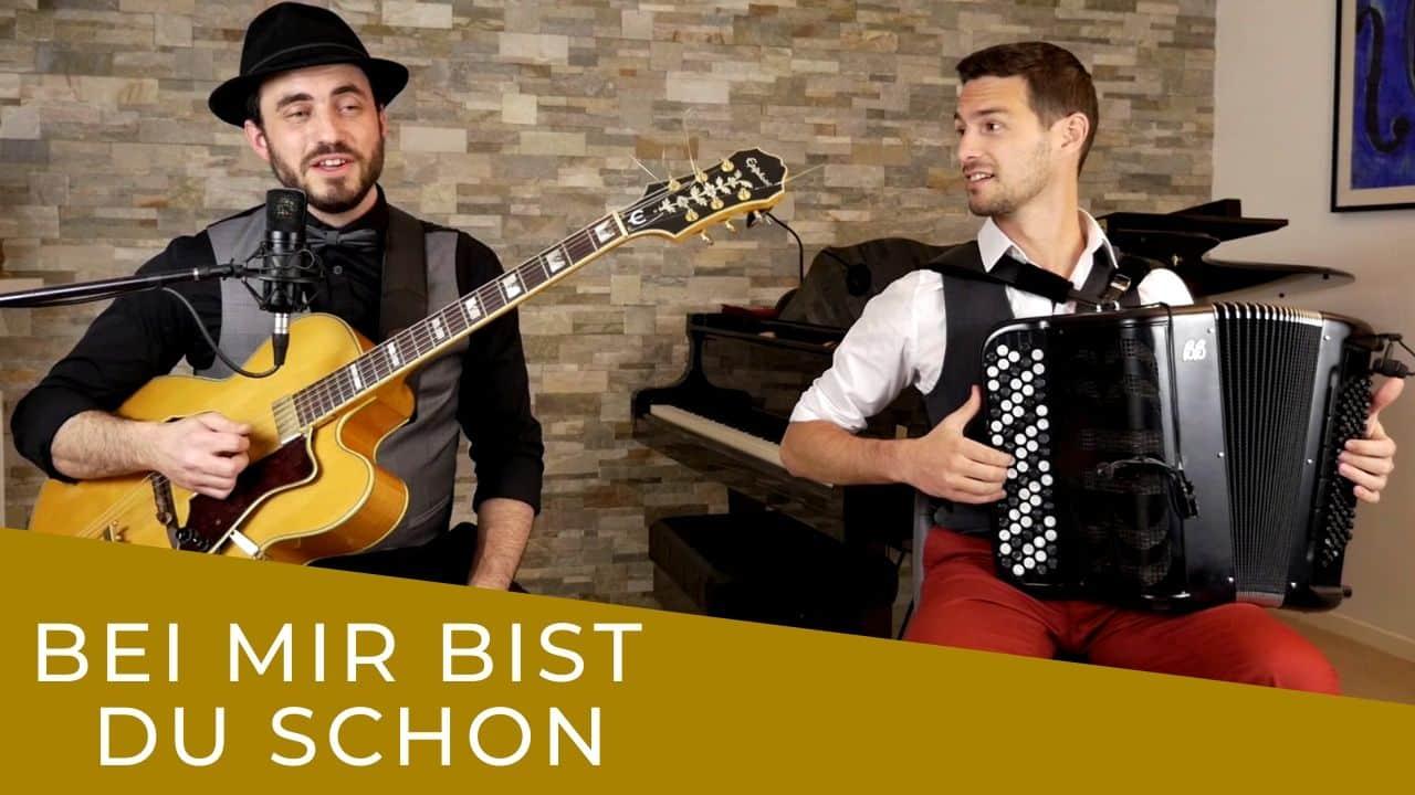 vignette Bei mir bist do schon joué par un duo jazz manouche de Lyon