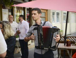 Grégory Chauchat accordéoniste de Lyon en solo