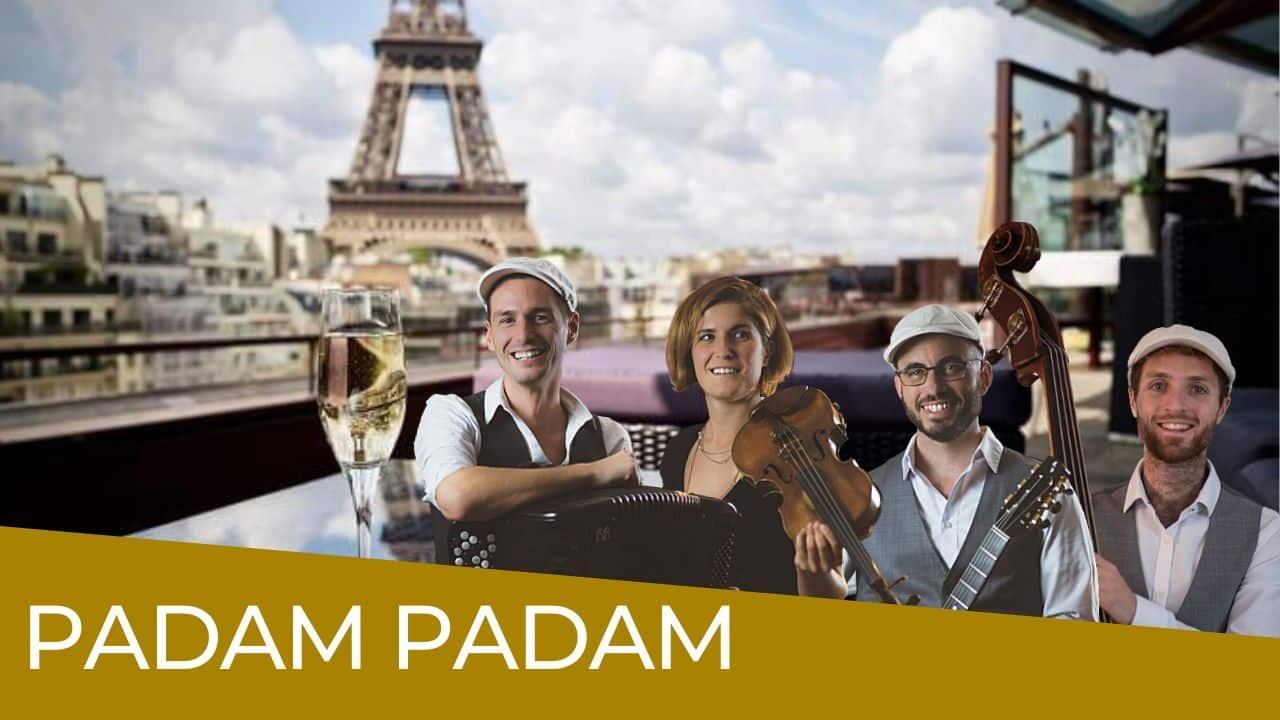 vignette Padam Padam - groupe de Jazz Manouche avec accordéon