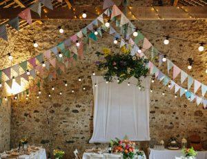 guirlandes et décoration guinguette pour mariage