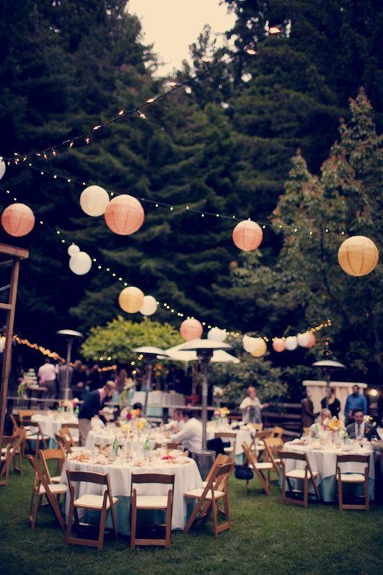 guinguette champêtre chic décoration lors d'un mariage