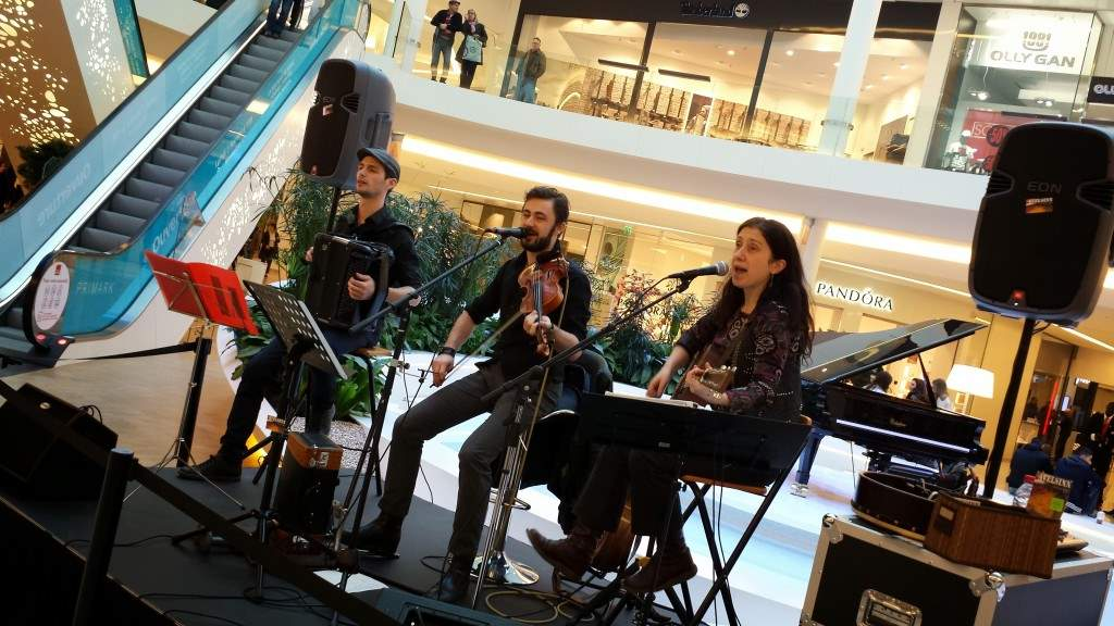 trio de musique irlandaise lors d'une prestation musicale