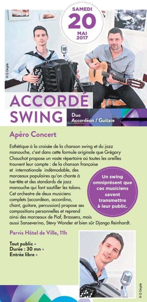 concert Accordé swing en duo à Limonest