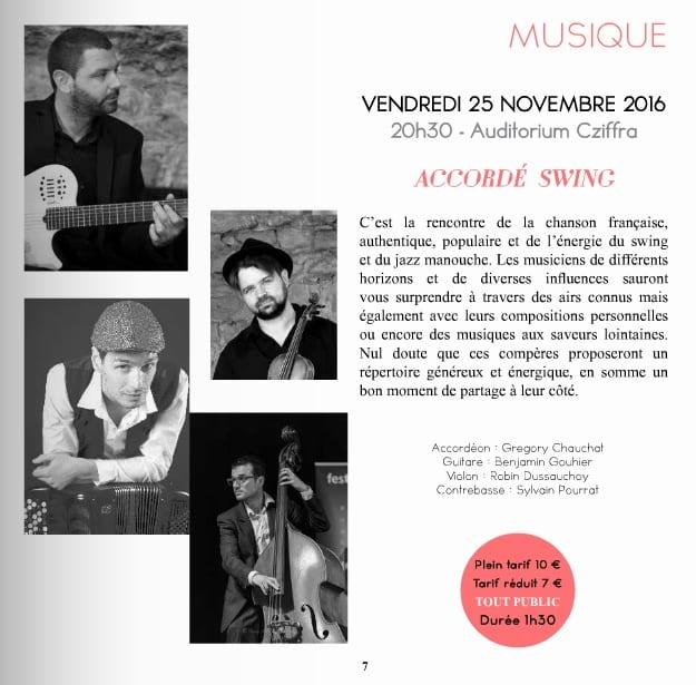 concert chaise dieu grégory Chauchat Quartet