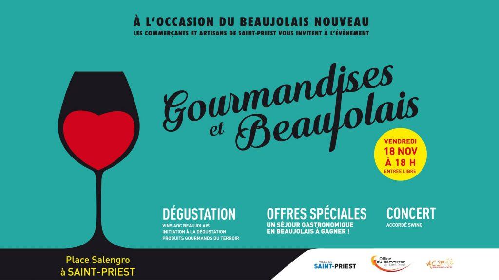 gourmandise et beaujolais
