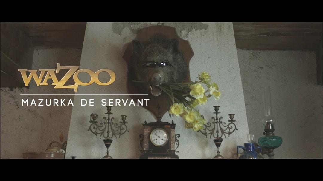 tournage du clip du groupe Wazoo : la Mazurka de Servant
